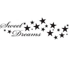 INDIGOS WG30187-70 Wandtattoo w187 Sweet Dreams Spruch Wandaufkleber 120 x 39 cm, schwarz