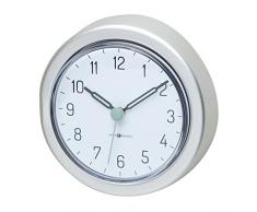 InterDesign 22740EU Metro Rostfreie Uhr mit Saugnapf aus Aluminium für Bad, Dusche - Silberfarben, Aluminum, Silver, 10,16 x 0,254 x 2,8 cm