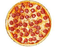 Broshan Runde Decke, Handtuch, kreative realistische Pizza-Decke / Überwurf, Picknick, bunte Fleece-Decke warm und gemütlich für alle Jahreszeiten, flauschige Flanelldecke, Stoff für Sofa, Bett. Huge (71 Dia) Bild 1