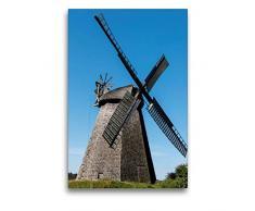 Premium Textil-Leinwand 50 x 75 cm Hoch-Format Wallholländer, Windmühle, Bierde   Wandbild, HD-Bild auf Keilrahmen, Fertigbild auf hochwertigem Vlies, Leinwanddruck von Barbara Boensch