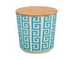Wenko Aufbewahrungsdose Edge 0,5 l Vorratsdose, Frischhaltedose mit Bambusdeckel und Silikonring luftdicht & aromafrisch Fassungsvermögen 0.50 l