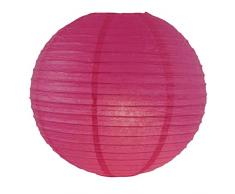 A LIITTLE TREE Runde Papierlaternen für Hochzeit, Geburtstag, Party, Dekoration, EIN Kleiner Baum, 30 cm, Hot Pink