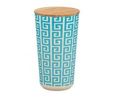 Wenko Aufbewahrungsdose Edge 0,95 l Vorratsdose, Frischhaltedose mit Bambusdeckel und Silikonring luftdicht & aromafrisch Fassungsvermögen 0.95 l