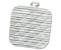 3dRose Topflappen, weiß, 8x 20,3cm