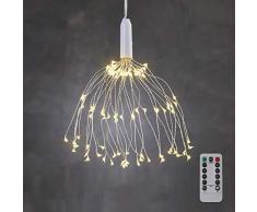 luca lighting Weihnachtsbeleuchtung, Warm Weiß, Silber, 50 cm