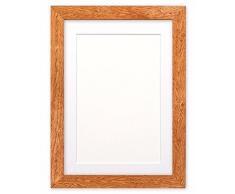 Montiert Breite Konfetti Holz Rahmen Range Fotorahmen | Bilderrahmen | Poster-m-wd-cnfeti-rnge-2-parent, Teak with White Bespoke Mount, 16x12 for 12x8 Pictures