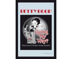 empireposter - Betty Boop - Going My Way - Größe (cm), ca. 20x30 - Bedruckter Spiegel, NEU - Beschreibung: - Bedruckter Wandspiegel mit schwarzem Kunststoffrahmen in Holzoptik -