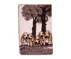 Karl Iffland Hunde vorm Baum Tagesdecke, Woll-Mischgewebe, Bunt, 140 x 200 cm