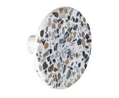 WENKO Wandhaken Melle Terrazzo - Haken zum Schrauben, Polyresin, 8 x 4.5 x 8 cm, mehrfarbig