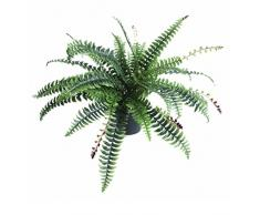 Leaf Kunstpflanze Farn, Kunststoff, 50 cm, Schwarz, 50cm Boston fern