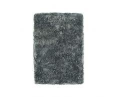 Thedecofactory Teppich Extra Weich, Polyester, dunkelgrau, 90 x 60 x 2 cm