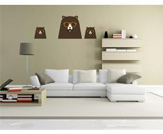 Indigos KAR-Wall-clm036-70 Wandtattoo fürs Kinderzimmer clm036 - Lustige kleine Monster - Niedlichen Hund - Wandaufkleber 70 x 26 cm
