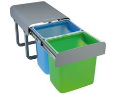 PYRAMIS 038001601 Einbau Abfallsammler 2X 16 L 2-Fach Mülltrennung, Color
