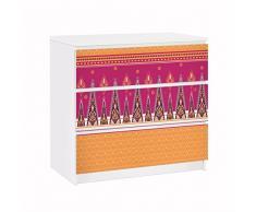 Apalis 91760 Möbelfolie für Ikea Malm Kommode Sommer Sari, größe 3 mal, 20 x 80 cm