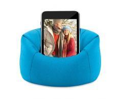 eBuyGB iPhone/iPod/Samsung Handy Sitzsack Sofa, Polyester, blau, 14,2 x 12.19 X 7,39 cm