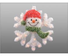 Weihnachtsbeleuchtung Schneeflocke, weiß