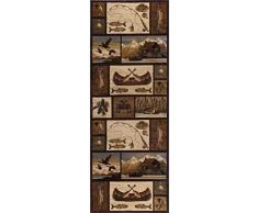 Universal Teppiche Kabine Getaway Lodge Läufer Accent Bereich Teppich, braun, 221 x 79 cm