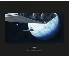 Komar Wandbild Star Wars Classic RMQ Hoth Orbit | Kinderzimmer, Jugendzimmer, Dekoration, Kunstdruck | ohne Rahmen | WB147-50x40 | Größe: 50 x 40 cm (Breite x Höhe)