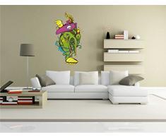 INDIGOS KAR-Wall-clm003-58 Wandtattoo fürs Kinderzimmer clm003 - Lustige kleine Monster - Vögel mit Totenkopf - Wandaufkleber 58 x 108 cm