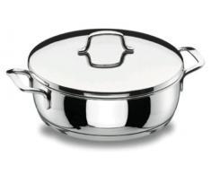 LACOR Gourmet Runde Schale, Edelstahl, Silber, 28 cm