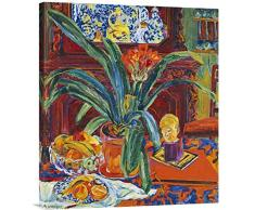 Global Gallery GCS-265912-30-142 Budget Philipp Bauknecht Stillleben mit Topf Pflanzen, Galeriepapier Giclée auf Leinwand Wandbild