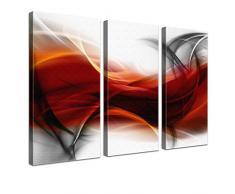 Lana KK - Empfindung RS - edel Leinwand Bild Kunstdruck auf Keilrahmen, fertig gerahmt in 150 x 100 cm, dreiteilig