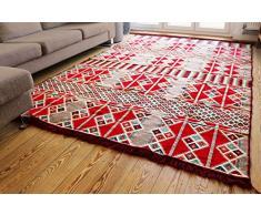 200x300 cm Orientalischer Teppich, Kelim,Kilim,Carpet,Bodenmatte neu aus Damaskunst S 1-6-22