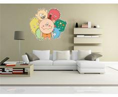 INDIGOS KAR-Wall-clm022-70 Wandtattoo fürs Kinderzimmer clm022 - Lustige kleine Monster - Einzigartige Menschliche - Wandaufkleber 70 x 62 cm