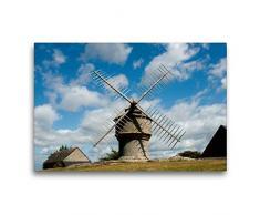 Calvendo Leinwand Windmühle 75x50cm, Special-Edition Wandbild, Bild auf Keilrahmen, Fertigbild auf hochwertigem Textil, Leinwanddruck, kein Poster