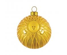 Alessi AMJ13 1 GD Weihnachtskugeln, Glas, Gold, 9 x 9 x 9 cm