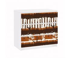 Apalis 91643 Möbelfolie für Ikea Malm Kommode Ethno Streifen, größe 3 mal, 20 x 80 cm