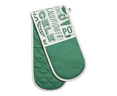 Beistelltisch von Premier Housewares mit Porter Bierbrauset Doppelter Ofenhandschuh mit Herzmuster aus Pailletten Green - 100% Baumwolle