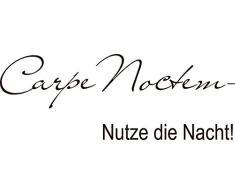 Graz Design 670074_40_080 Wandtattoo Deko Schlafzimmer Ideen Wandtattoos Wand Spruch Zitat Carpe Noctem Nacht 110x40cm Braun