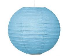 A LIITTLE TREE Papierlaternen, rund, für Hochzeit, Geburtstag, Party, Dekoration, EIN Kleiner Baum, 20 cm, Hellblau