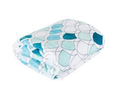Design91 Decke Wohndecke Sofadecke Sesseldecke Kuscheldecke Bettüberwurf Kloe Set Wohnzimmer, Polyester, Minze, 70x60 cm