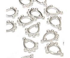 Beads Unlimited Ohrring Kronleuchter, versilbert, 16x13mm