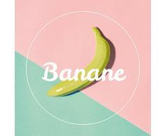 Eurographics Retro Banana Leinwandbild, Leinwand, Bunt, 30 x 30 cm