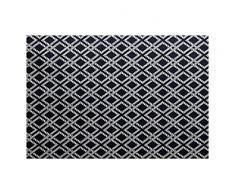 E-design 3 x 5-ft, Seil Ausrüstung, geometrische Teppich, Navy blau