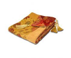 Paoletti Überwurf Dekorative 254Für Sofa, Stuhl oder Bett, Gold