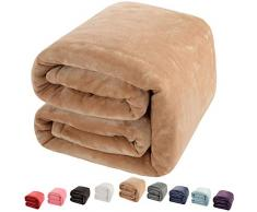 Shilucheng Luxus Fleecedecke Super Weich und warm Fuzzy Plüsch leicht Schlafcouch Decken King/Queen/Twin/Überwurf/Reisegröße, Fleece, cremefarben, Throw (60-Inch-by-43-Inch)