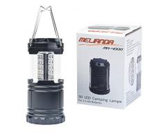 MELIANDA MA-4000 LED Campinglampe, für Outdoor, Camping, Garten, Zeltleuchte, Notfallleuchte, tragbare Laterne