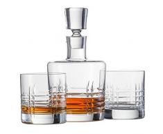 Schott Zwiesel Basic BAR Classic bestehend aus 1 Karaffe und 2 Double Old Fashioned Gläsern Whisky Set, Kristall, farblos, 22.5 x 13 x 23 cm