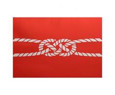 E-design 3 x 5-ft, Carrick Bend, geometrische Teppich, rot-orangen