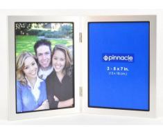 Pinnacle Frames silber Schreibtisch Rahmen mit Schwarz Lippe, silber, 5 x 7