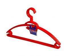 Home Kleiderständer Universal Drehbar, 3 Stück, Kunststoff, Rot, 40 x 3 x 23 cm
