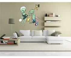 INDIGOS KAR-Wall-clm012-58 Wandtattoo fürs Kinderzimmer clm012 - Lustige kleine Monster - Sexy Frauen - Wandaufkleber 58 x 58 cm