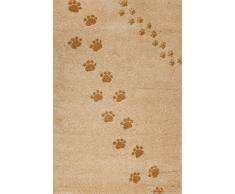 Art for Kids Qualität Label Öko-Tex Standard 100 Spuren Kinder Teppich, 100 Prozent Polypropylen, Beige, 100 x 150 cm
