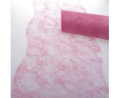Deko AS GmbH Sizoflor Tischband Wellenschnitt rosa ca. 25 cm Rolle 25 Meter 60W 014-R