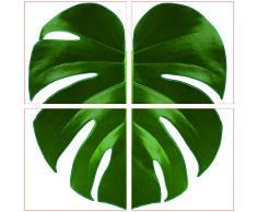 Plage 260522 Fliesen Sticker Smooth, Tropikal, 4 Blätter, 14,5 x 14,5 cm