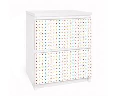 Apalis 91126 Möbelfolie für Ikea Malm Kommode - Selbstklebe nummer UL748 Little Dots, größe 2 mal, 20 x 40 cm